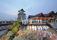 Malasia Viajes | Puesto de pescado fresco en Malacca