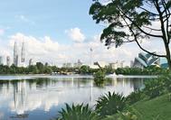Skyline con Petronas Towers de Kuala Lumpur