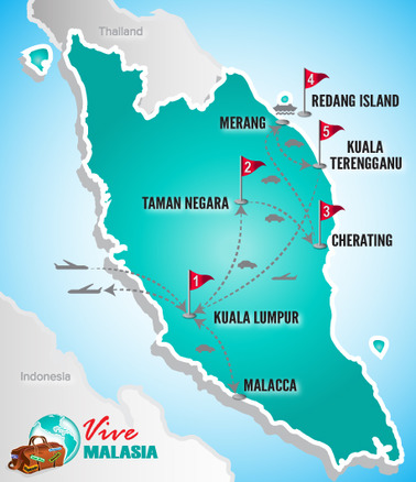 Malasia Viajes | Mapa Grupo Playa
