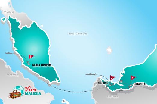 Malasia Viajes | Mapa Borneo