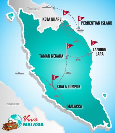 Malasia Viajes | Mapa Luna de Miel II