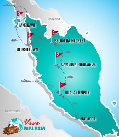 Malasia Viajes | Mapa Chinos Playa