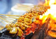 Comida callejera Satay